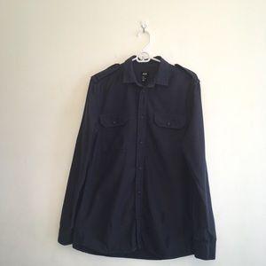 Men's H&M Dark Wash Chambray Shirt
